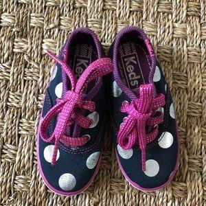 Navy/pink keds size 5.5